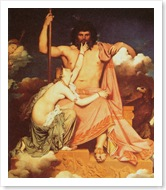Zeus and Thetis by Jean-Auguste Ingres, Canvas, 1811.